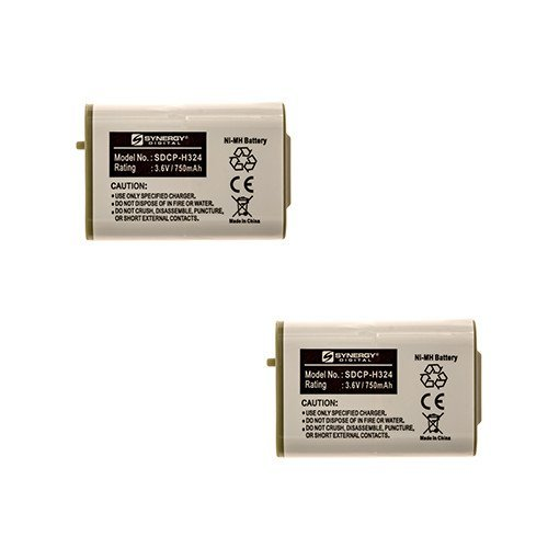 Radio Shack 23-966 Cordless Phone Battery Combo-Pack Includes: 2 x SDCP-H324 Batteries