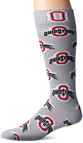 NCAA Ohio State Buckeyes Athletic Block Gray Dress Socks - Lounge Ohio State Pants