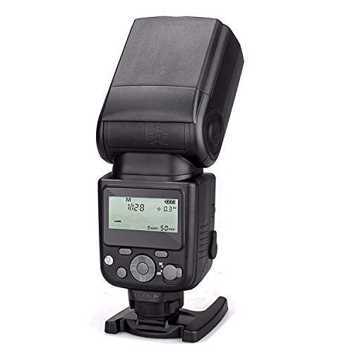 Meike MK-930 II LCD GN58 Manual Flash Speedlite for Sony MI Hotshoe Camera A7 A7R A7S A7 II A7R II A7S II A6300 A6000 (No TTL, just Manual)