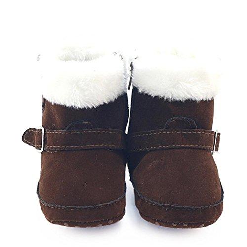 Clode® Kleinkind Neugeborenen Jungen Mädchen Krippe Winterstiefel Prewalker Warm Martin Schuhe Kaffee