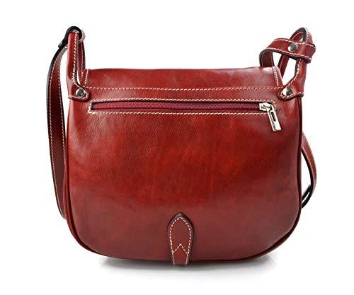 ... Sacoche femme sacoche rouge de femme cuir sac femme de sacoche besace  bandoulière sac à bandoulière ... 944a69762d43
