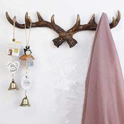 Ganchos de pared vintage de ciervo para cornamentas, 16 ...