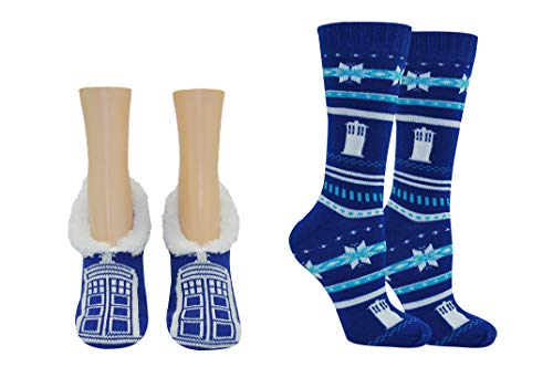 Doctor Who Socks Women & Girls - Dr Who Costume Merchandise Cosplay - Fits Shoe Size: 4-10 (Ladies) (2) ()