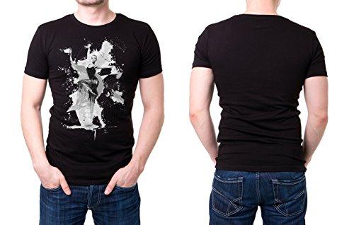 Ballett_IV schwarzes modernes Herren T-Shirt mit stylischen Aufdruck
