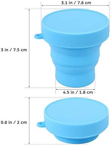 ROSENICE Taza de silicona plegable portátil para excursión Camping Picnic (azul)