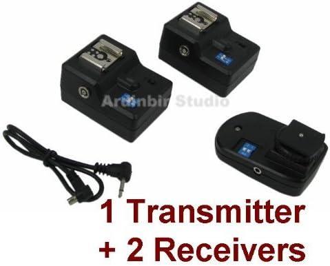 SB-27 2 Receivers for for NISSIN DI622,DI866,DI466; VIVITAR 285HV DF383; Canon 430EX II SB-80DX Speedlight Flash SB-26 Wireless Radio Remote Trigger 1 Transmitter SB-900 580EX II SB-28 550EX; NIKON SB-600 SB-800