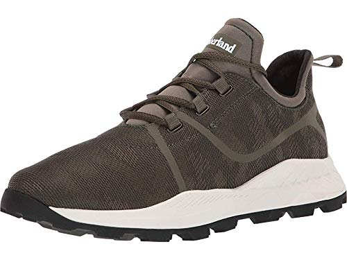 Timberland Men's Brooklyn Fabric Oxford Sneakers Dark Green Mesh Camo 7.5 D US