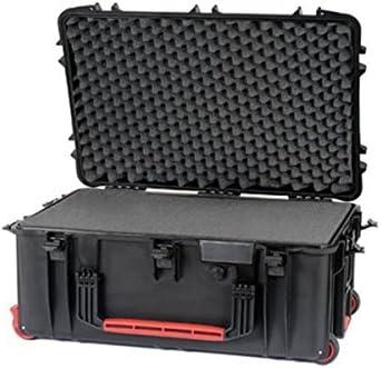 Maleta de resina con ruedas Plaber HPRC - Color Negro con espuma Cubettata - HPRC2760WCUBBLK