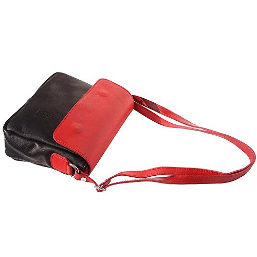 8692 Cuir Bandoulière Compact Souple Noir À Sac En rouge nxZWTYAqwt