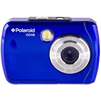 Polaroid IS048 Waterproof Instant Sharing 16 MP Digital Portable Handheld Action Camera, Blue