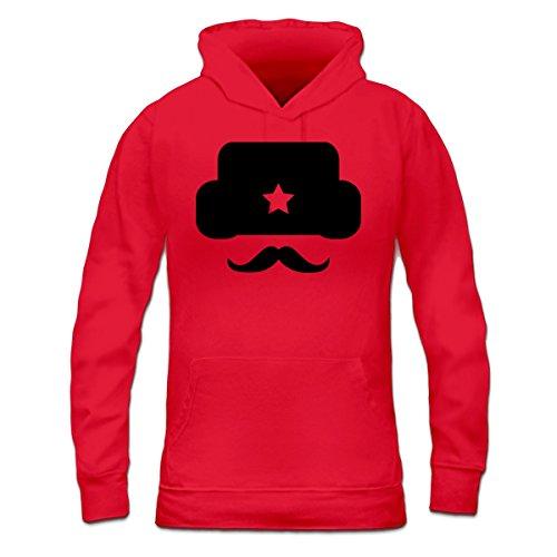 Sudadera con capucha de mujer Russian Mustache by Shirtcity Rojo