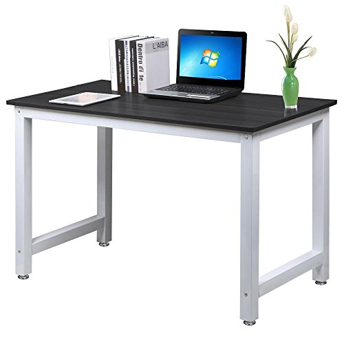 Ant Baby Modern MDF Simple Style Wood Computer Desk Laptop Table Multi-purpose Square Desk Home Office Furniture,Black Board + White Leg - Mdf Computer
