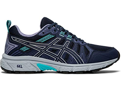 ASICS Women's Gel-Venture 7 Running Shoes, 9M, Black/Silver