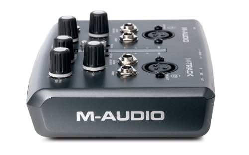 M-Audio M-Track | Two-Channel Portable USB Audio and MIDI Interface (24-bit/48 kHz)