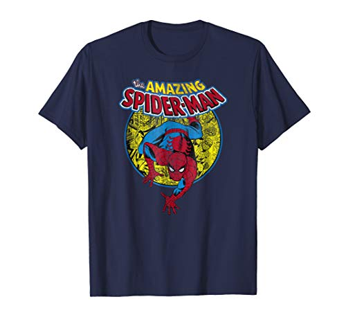 Marvel Amazing Spider-Man Vintage Comic Graphic T-Shirt ()