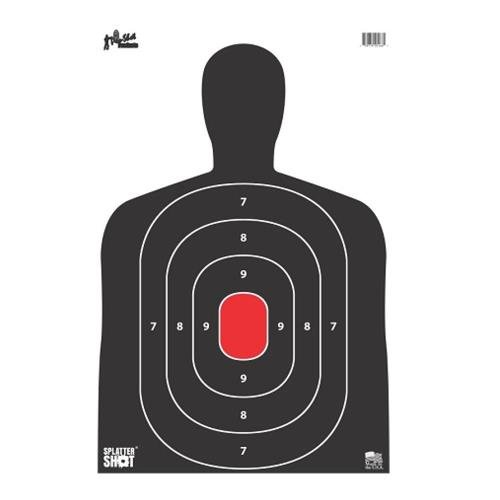 (Pro Shot Silh-8Pk Silhouette Target (8 Pack), Red/Black on White)