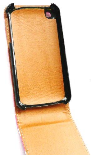 Emartbuy ® Value Pack für Apple iPhone 3G / 3GS Premium-PU-Leder Flip Case / Cover / Tasche Polka Dots Pink / Weiß + Kompatibel Kfz-Ladegerät + LCD Displayschutz