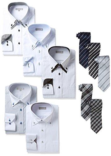 不調和保証する八百屋さんワイシャツ5枚&ネクタイ5本セット No.1