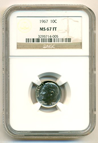 1967 Roosevelt Dime MS67 FT NGC (Ms67 Dimes)