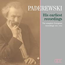 Paderewski - Earliest Recordings. Paderewski (2 for 1)