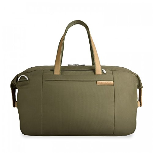 Briggs & Riley Baseline Large Travel Satchel,Olive,12x19.8x9