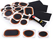 Maifede Bike Inner Tube Patch Kits, Bicycle Tire Repair Kit, with Portable Storage Box, for Cycling, Motorcycl