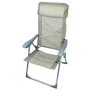 2 x 4 x 6 x aluminio silla plegable silla de jardín con ...