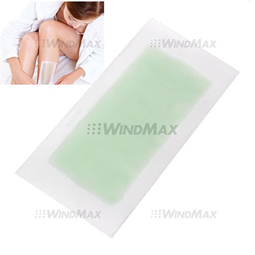 USA Seller WindMax® Aloe Vera Double Side Cold Wax Hair Removal Strips Paper Spa Skin Care for Leg Body Facial Hair (30 Pcs)