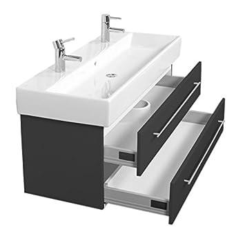 Doppelwaschbecken mit unterschrank holz  Emotion MEMENTO120CMDOPPEL000104DE Waschbecken mit Unterschrank ...