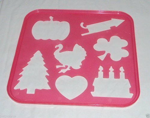Tupperware Stencil Art Replacement Holiday Theme - Shamrock Shape Template