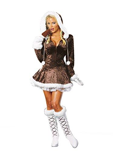 [Adult-Costume Eskimo Cutie 3X-4X Halloween Costume - Adult 3X-4X Large] (Eskimo Cutie Costumes)
