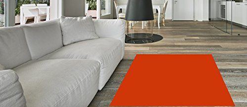 7'10 Inch Red Runner - Maxy Home Hamam Solid Light Red 2 ft. 8 in. x 9 ft. 10 in. Rubber Backed Runner Rug