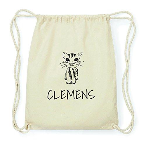 JOllipets CLEMENS Hipster Turnbeutel Tasche Rucksack aus Baumwolle Design: Katze zkCqXG