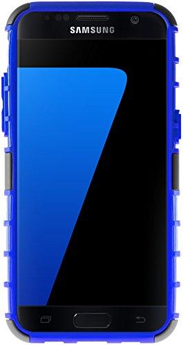 Funda Galaxy S7, G-Shield Carcasa Extremo Protección [Con Soporte] [Anti-Arañazos] [Anti-Choque] [Muy Resistente] Híbrida a Prueba de Golpes Case Cover Para Samsung Galaxy S7 - Blanco Azul