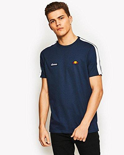 Ellesse Tennis Apparel - ellesse Crotone Shoulder Stripe Cotton Dress Blue T-Shirt L Navy