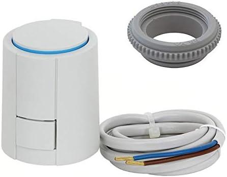 Actuador Alpha-5 para calefacción por suelo radiante 24 V (AC/DC), tipo NO Nomally Opened VA80 apto para Heimeier/Kermi/Roth/Herb/Thermoval, etc.