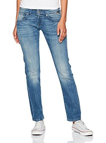 Blue Women's Straight Jeans 9 Replay Newswenfani Blue Denim wqIpE4x