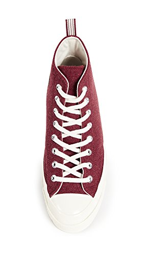 High Chuck Men's 8 Felt Us Sneakers Red '70s Terra egret Converse Taylor Heritage Top M qYwUU5f
