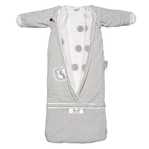 Puckababy The Bag 4 Seasons Baby and Toddler Sleeping Sack Gray Dot 7 M - 2.5 Yr by Puckababy