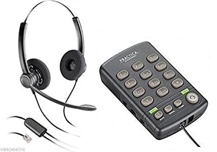 Plantronics Practica T110 Headset(SP12 Binaural) Headset & Dial Pad Call  Center Headset and Dialpad