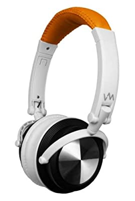 VM Audio SRHP3 Stereo MP3/iPhone iPod Over Head On Ear Headphones Orange/White