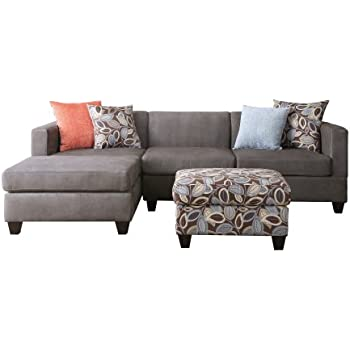 3 piece sectional sofa costco enzo pc with chaise simplistic collection ottoman charcoal