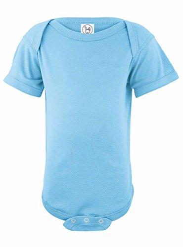 Blue Rabbit (Rabbit Skins 100% Cotton Infant Baby Fine Jersey Bodysuit [Size Newborn] Light Blue Jersey Onesie)