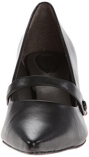 Trotters Leather Wedge Pump Women's Petra Black HBqrUHZ