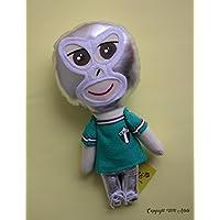 Muñeco de trapo estilo Luchador que porta camiseta mundialista mexicana diseñado, elaborado y pintado a mano.