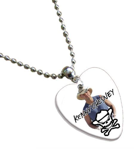 Kenny Chesney Love Heart Guitar Pick Collier Band Médiator