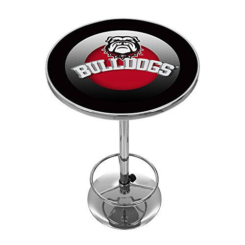 Georgia Pub Table - Trademark Gameroom University of Georgia Chrome Pub Table - Honeycomb