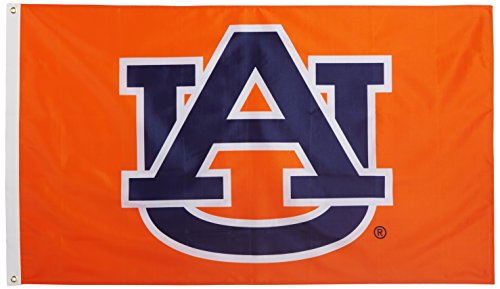 NCAA Auburn Tigers 3-by-5  Foot Flag A U Orange Background with Grommets