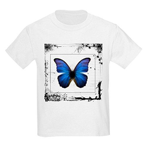 Royal Lion Kids Light T-Shirt Blue Butterfly Still Life - White, Small