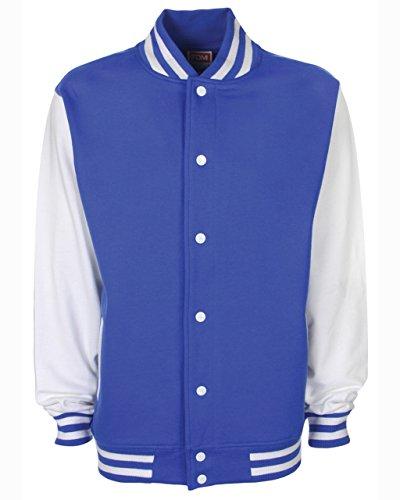 in White stile giacca Fdm college cotone Royal unisex pesante TI8nqwBaZ